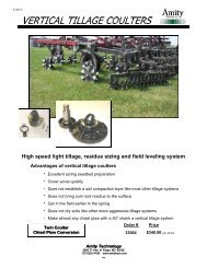 Vertical Tillage Coulters - Amity Technology