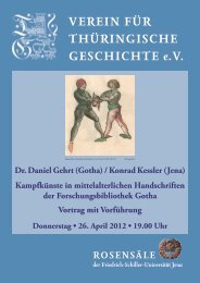 Dr. Daniel Gehrt - Verein für Thüringische Geschichte