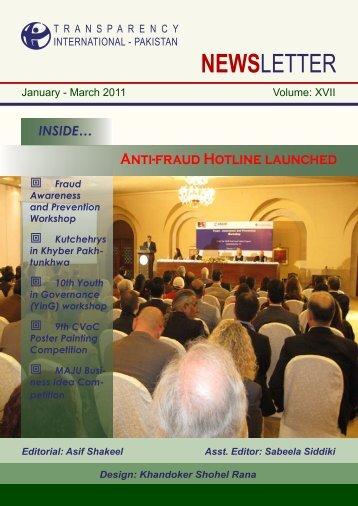 January - March 2011 - Transparency International Pakistan