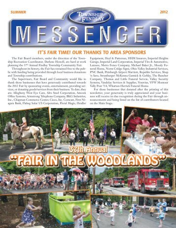 View PDF version of Findlay Township Messenger - Summer 2012