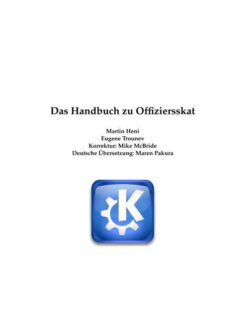 Das Handbuch zu Offiziersskat - KDE Documentation