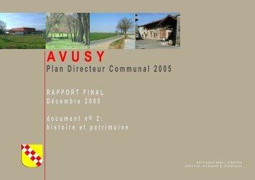 AVUSY - HISTOIRE et PATRIMOINE - Etat de Genève