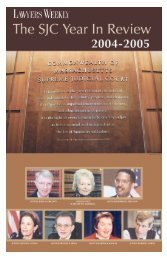 the sjc year in review - Massachusetts Lawyers Weekly