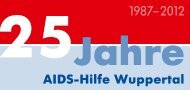 25 Jahre - AIDS-Hilfe Wuppertal eV