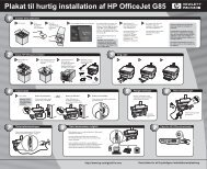 Plakat til hurtig installation af HP OfficeJet G85 - Hewlett Packard