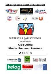 Ausschreibung Int. Alpe Adria Tournee Nr.1 - SG Klagenfurt