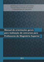 Manual de orientações gerais para realização de concursos ... - UFSM