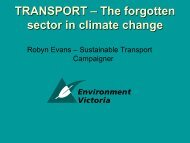 TRANSPORT – The forgotten sector in climate change - Australian ...