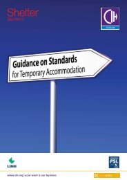 Guidance on Standards for Temporary ... - Shelter Scotland
