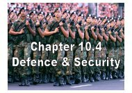 Chapter 10 – Defense & Security [Powerpoint Slides]