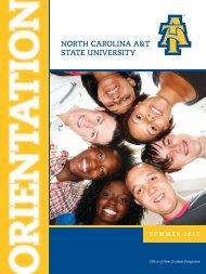 Schedule Booklet - North Carolina A&T State University