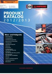 Beha-Amprobe Hauptkatalog 2012 / 2013 - Industrievertretung R ...