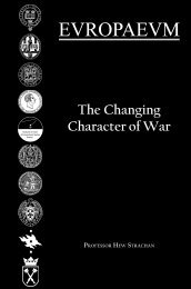 The Changing Character of War - The Europaeum