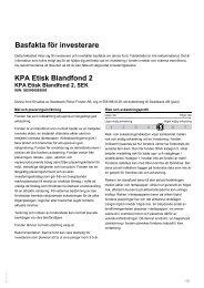 Basfakta för investerare - Swedbank Robur