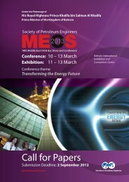 Call for Papers - Society of Petroleum Engineers