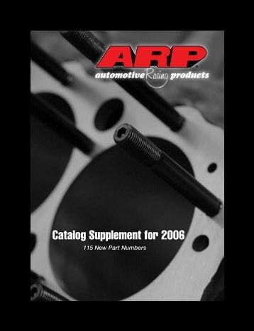 Catalog Supplement for 2006 - JRP