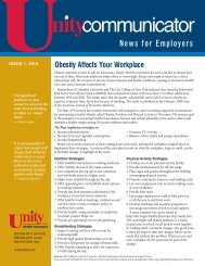 Issue 1, 2010 - Unity Health Insurance
