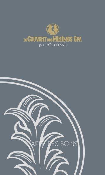 CARTE DES SOINS - Couvent des Minimes