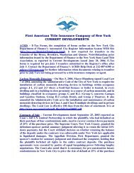 Issued July 9, 2004 - First American Title Insurance Company of ...