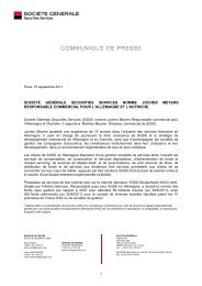SOCIETE GENERALE - Société Générale Securities Services