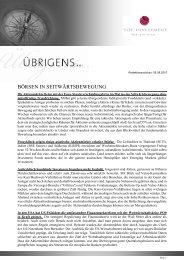 Newsletter vom 05. August 2010 - TOP-Investment GmbH