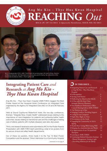 AMK-THKH Newsletter Issue 2 of 2011 - Thye Hua Kwan Hospital