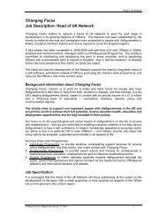Changing Faces Job Description: Head of UK Network