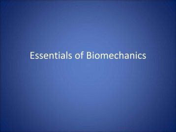 Essentials of Biomechanics