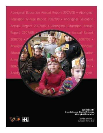 Aboriginal Education Annual Report 2007/08 • Aboriginal Education ...
