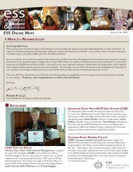 ESS ONLINE NEWS - CCBC Faculty Web