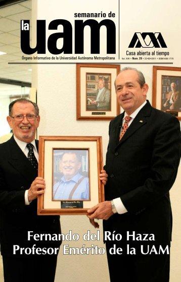Fernando del Río Haza Profesor Emérito de la UAM