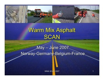 Warm Mix Asphalt SCAN 30 - T. Harman
