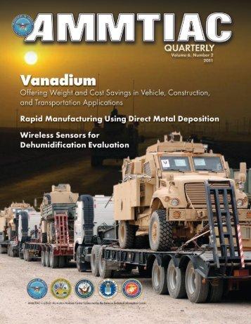 AMMTIAC Quarterly, Vol. 6, No. 2 - Advanced Materials ...