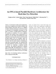 An FPGA-based Parallel Hardware Architecture for Real-time ... - JSTS