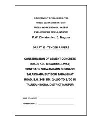 construction of cement concrete road (7.00 m ... - e-Tendering