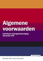 Algemene voorwaarden - Abvakabo FNV
