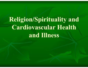 Spirituality and Depression in Congestive Heart Failure Patients