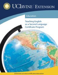 Teaching English as a Second Language Certificate Program