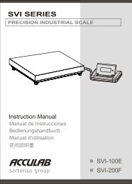 Acculab SVI Manual 100E 200F