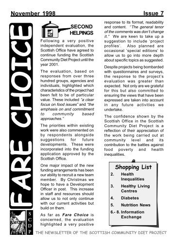 Fare Choice Issue 7 - Community Food and Health