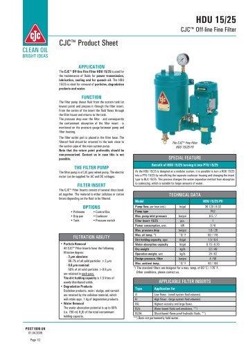 CJC Off-line Fine Filter HDU 15-25