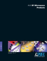RF Microwave/Thin-Film Products - AVX