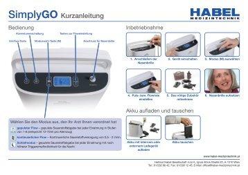 SimplyGO Kurzanleitung - HABEL Medizintechnik