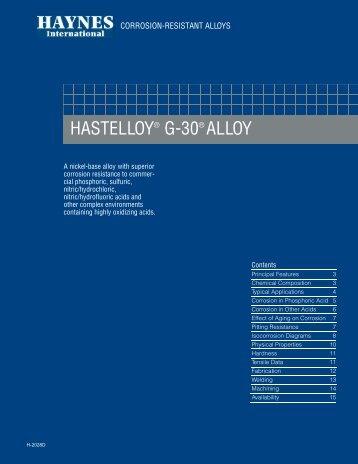 HASTELLOY® G-30® ALLOY - Haynes International, Inc.