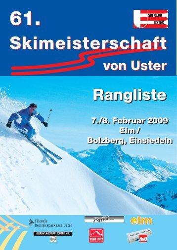 Rangliste 2009 - skimu.ch