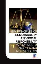 ISM Principles of Sustainability and Social Responsibility with a ...