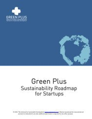 Sustainability Roadmap for Startups - Green Plus