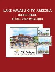 Budget Book 2013 - Lake Havasu City