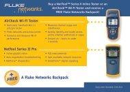 A Fluke Networks Backpack - FLUKE TESTERY.CZ
