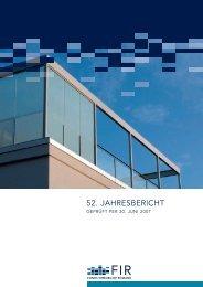 52. jahresbericht geprüft per 30.juni 2007 | pdf - FIR - Fonds ...